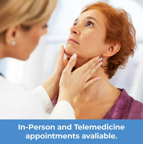 In-Person and Telemedicine appointments available